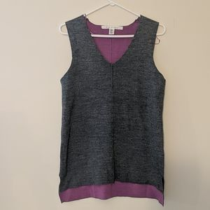 Max studio, grey with purple inside